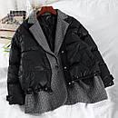 Демисезоонная куртка женская с пиджаком в бежевом и черном цвете (р. 42-46) 68kr585, фото 4