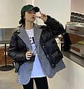 Демисезоонная куртка женская с пиджаком в бежевом и черном цвете (р. 42-46) 68kr585, фото 6