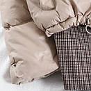 Демисезоонная куртка женская с пиджаком в бежевом и черном цвете (р. 42-46) 68kr585, фото 7