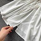 Біле плаття туніка з широкими рукавами і мереживом на грудях (р. 42-46) 68py2069, фото 5
