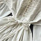 Біле плаття туніка з широкими рукавами і мереживом на грудях (р. 42-46) 68py2069, фото 6