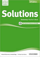 Solutions 2nd Edition Elementary: Teacher's Book and CD-ROM Pack