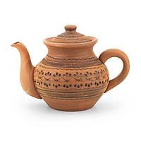 Чайник заварочный средний 1л резка Орнамент