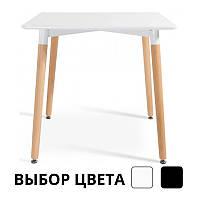 Столик обідній кухонний Bonro В-950-800 для кухні кафе (Столик обідній стіл кухонний квадратний 80х80х75)