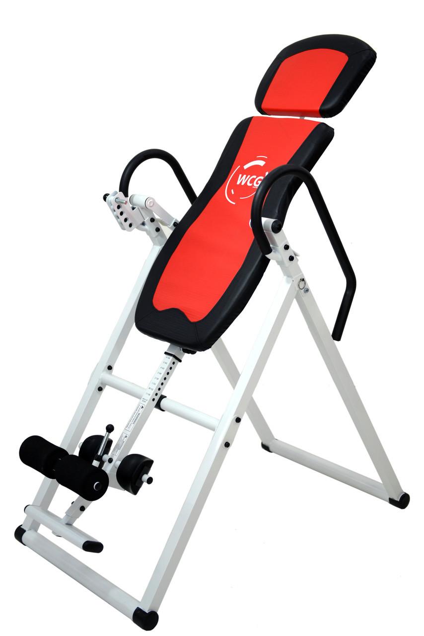 Инверсионный стол WCG-200 тренажер для спины и позвоночника. Бесплатная доставка (Інверсійний стіл складной)