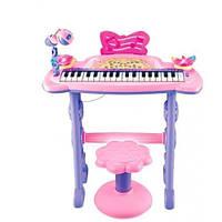 Дитяче піаніно-синтезатор на ніжках 6613 зі стільчиком і мікрофоном від USB 37 клавіші
