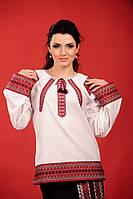 Женская вышитая блуза на выпуск, размер 56
