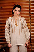 Женская вышиванка с коротким рукавом, размер 56
