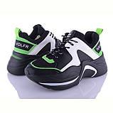 Кроссовки женские черно-белые на толстой подошве, черный, белый, зеленый, в стиле Hiking shoe, фото 2