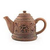 Чайник заварювальний з червоної глини, в/п глазур, 0,8 л