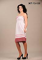 Вышитое женское платье на лето, размер 56