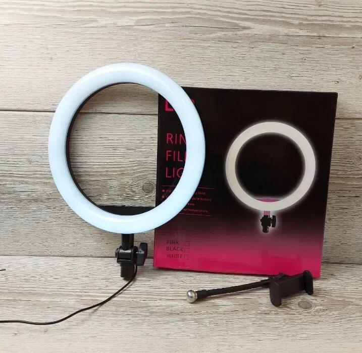 Кольцевая LED лампа 2 (1 крепл.тел.) USB (26см)