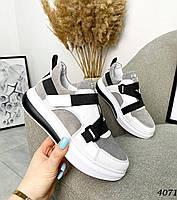 Замшеві молодіжні кросівки 36-40 р капучіно, фото 1