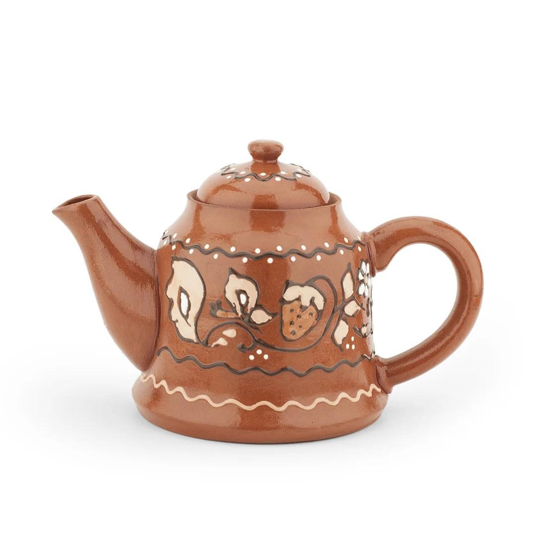 Чайник заварочный малый 0,8л роспись/глазурь, в/п глазурь