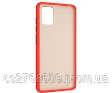 "Чехол силікон ""Keva"" Samsung A515, A51 2020 червоно-чорний (тех.пак)"