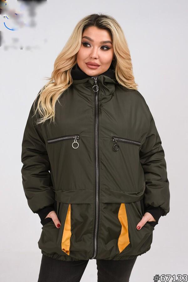 Куртка жіноча стильна демісезонна розміри 50-60