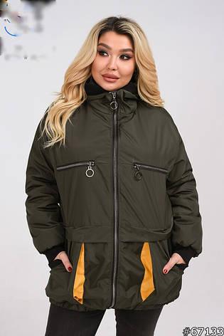 Куртка жіноча стильна демісезонна розміри 50-60, фото 2