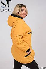 Куртка жіноча стильна демісезонна розміри 50-60, фото 3