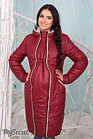"""Удлиненная зимняя куртка для беременных """"Avery"""", бордовая"""