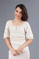 Однотонная женская вышиванка, размер 58