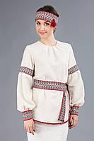 Женская вышитая блуза удлиненного кроя, размер 58