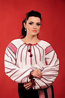 Женская блуза с вышивкой, размер 58