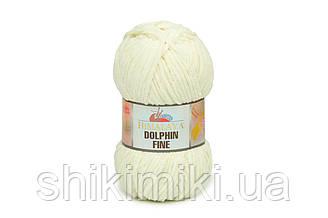 Пряжа велюровая Dolphin Fine, цвет Молочный