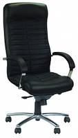 Кожаное кресло руководителя Orion steel chrome ECO-30 черный