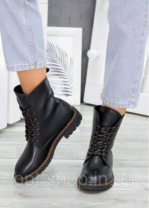 Ботинки берцы женские демисезонные весенние кожаные на шнуровке, ботинки женские осенние демисезонные