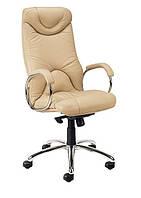 Кожаное кресло руководителя Elf steel chrome LE