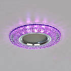 Точечный светильник c двойной подсветкой (розовый + холодный) 3 Вт под лампочку MR 16 СветМира D-8126WH+PK, фото 5