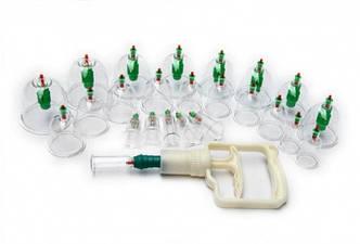 Массажные вакуумные банки для домашней терапии - Pull out a vacuum apparatus 24шт