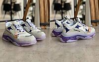 Женские Кроссовки Balenciaga Triple S VIOLET Баленсиага Трипл С Фиолетовые (40). Женская обувь