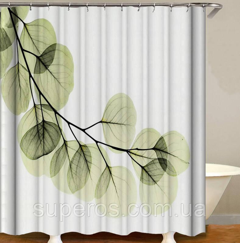 Тканинна шторка для ванної душа 180х200 см серія Japan, дизайн №4