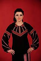 Женская вышиванка черная, размер 60