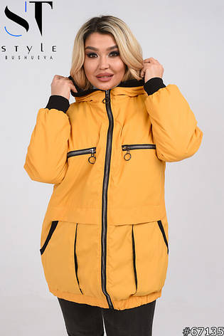 Куртка женская стильная демисезонная размеры 50-60, фото 2