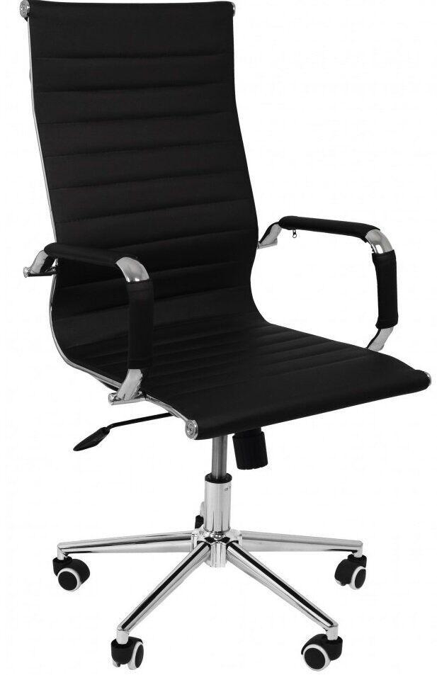 Крісло офісне комп'ютерне Bonro B-625H для офісу будинку чорне (Крісло офісне комп'ютерній ютерне робоче