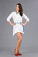 Вышитое мини-платье, размер 60
