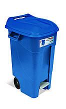 Бак для мусора120л EcoTayg 60*56,8*88,6см,с педалью,крышкой, ручками, на колесах (Испания)