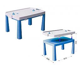 Пластиковый стол с насадкой для аэрохоккея (синий) 04580/1