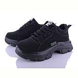 Кроссовки женские черного цвета мягкие велюровые, фото 2