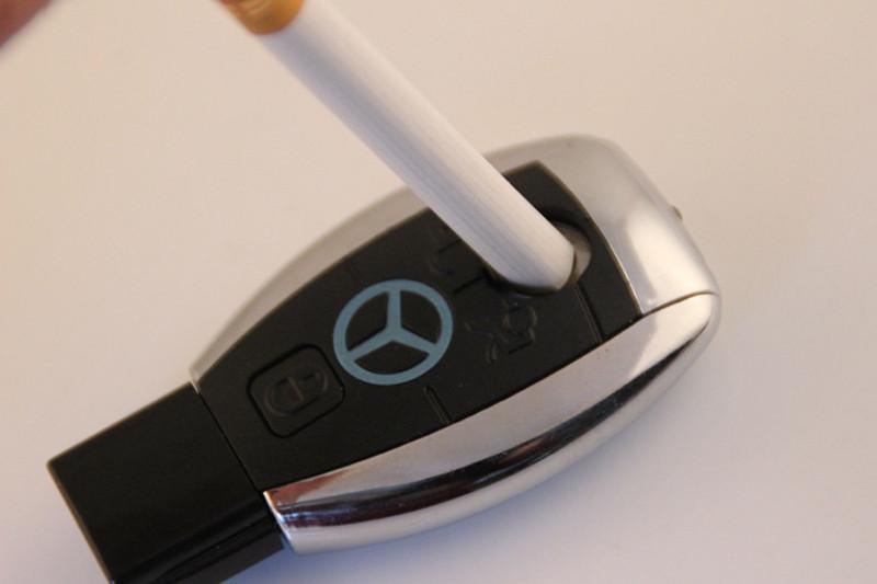 Зажигалка USB Mercedes (c фонариком)