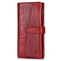 Женский кошелек из натуральной кожи Kavis 1682 красный, фото 1
