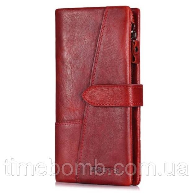 Женский кошелек из натуральной кожи Kavis 1682 красный