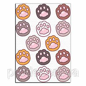 Капкейки-6 см Котячі лапки вафельна картинка