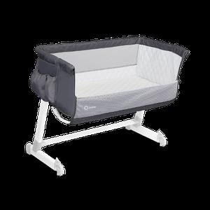 Кроватка приставная Lionelo THEO DARK GREY