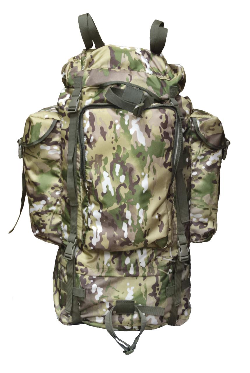 Тактический туристический армейский крепкий рюкзак 100 литров Мультикам. Оксфорд 600 ден Армия рыбалка туризм