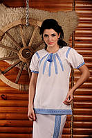 Женская вышиванка с коротким рукавом, размер 48