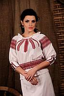 Женская вышиванка с поясом-резинкой, размер 48