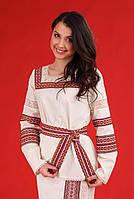 Женская вышитая блуза под поясок, размер 48